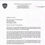 4th Grade Commemorates 9-11 With Letters To BDALE Police And Fire Departments