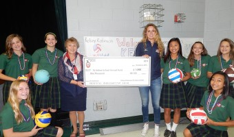 St. Isidore's Kelsey Robinson Returns Home to Address Students About Life as a Pro Volleyball Player