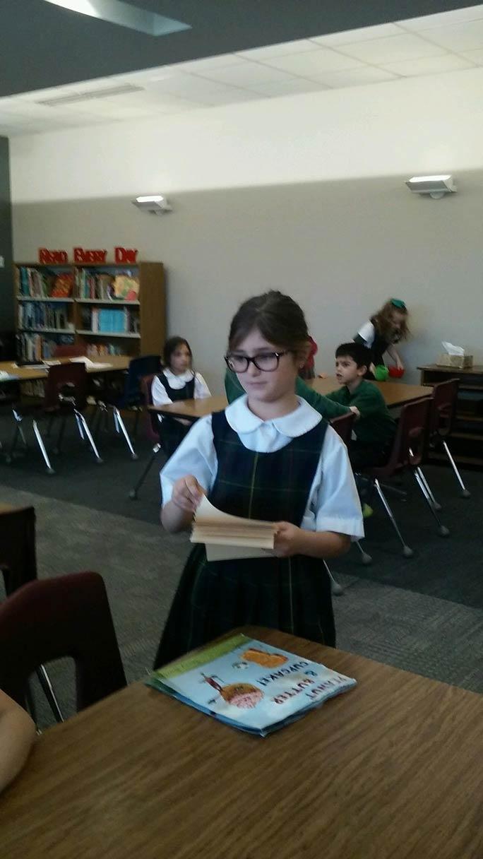 Alyssa Freeman 1st Grade Librarian for the Day