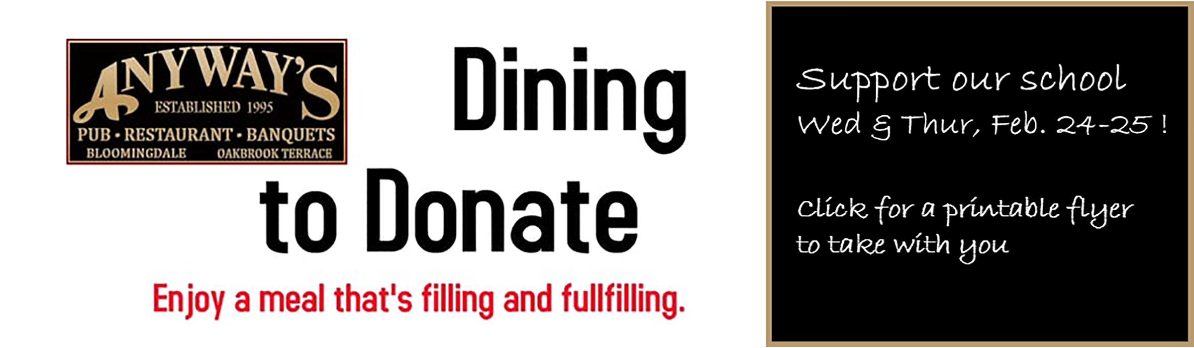 Dining to Donate slider