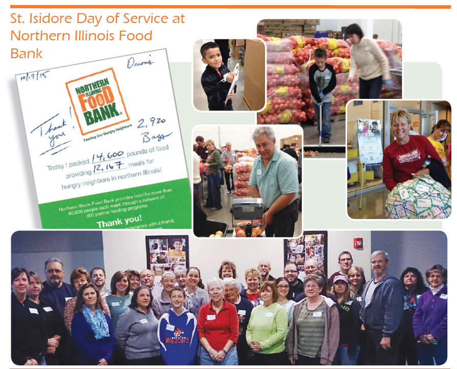 St. Isidore Day of Service at Northern Illinois Food Bank