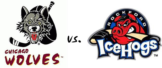 Wolves vs Icehogs logo