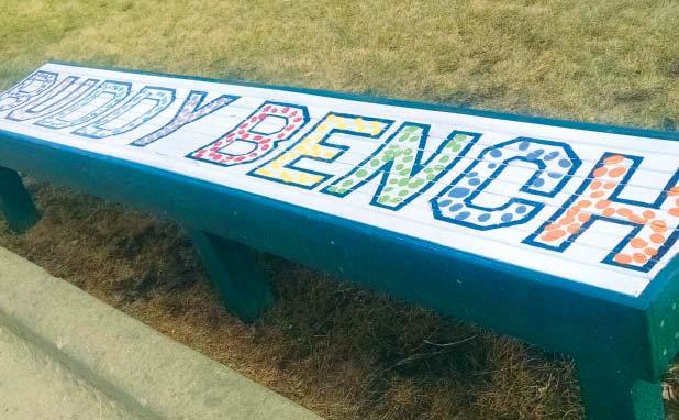 "St. Isidore School Dedicates a ""Buddy Bench"""