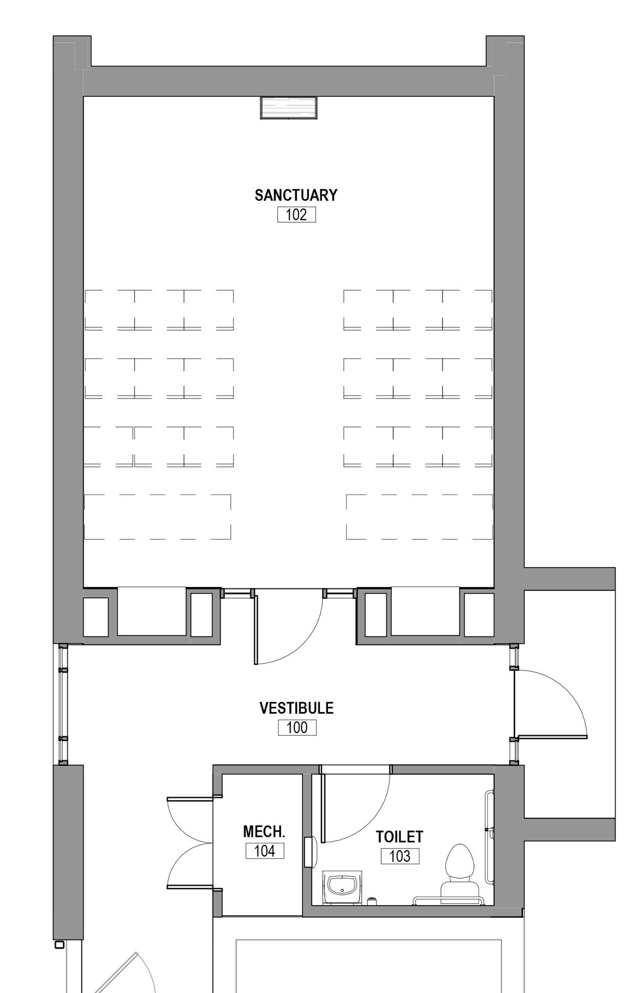 Layout overhead view