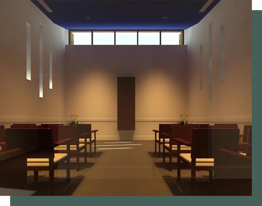 interior facing north monstrance reposed