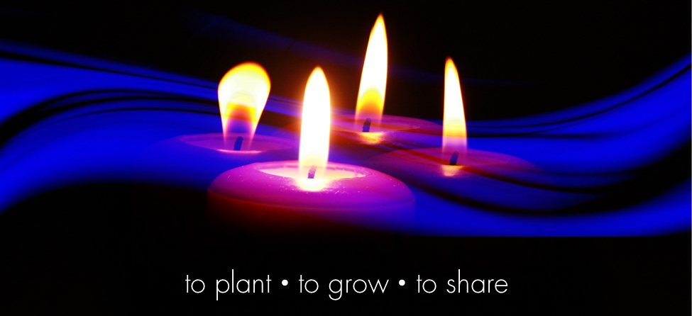 advent web page image - candles with mission statement