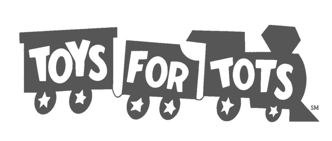 toys for tots logo grey and w