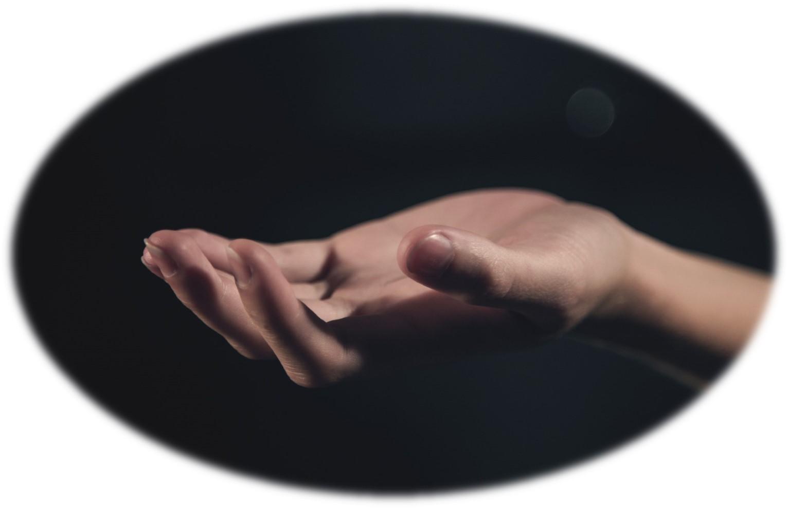 open hand - oval